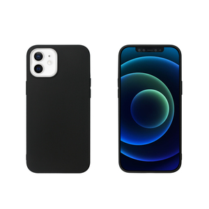 MYWAY COQUE COLORED TPU NOIR IPHONE 12 MINI