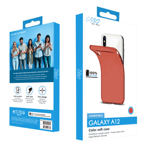 MYWAY COQUE COLORED TPU ROUGE SAMSUNG GALAXY A12/A12S