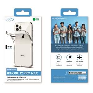 MYWAY COQUE SOUPLE TRANSPARENTE IPHONE 12 PRO MAX