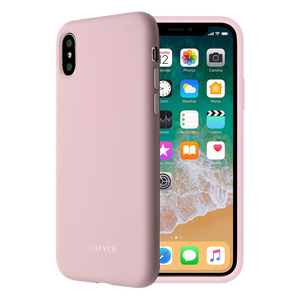 COQUE SMOOTHIE ROSE POUDRE: APPLE IPHONE X