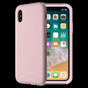 COQUE SMOOTHIE ROSE POUDRE: APPLE IPHONE X