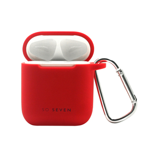 PACK COQUE AIRPOD+ATTACHE SMOOTHIE ROUGE