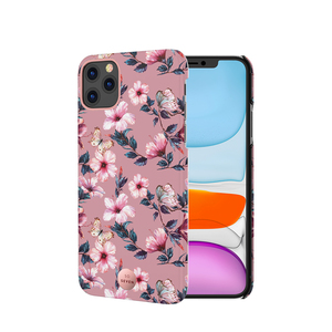 COQUE PREMIUM CRYSTAL SEOUL HIBISCUS ROSE: IPHONE 11 PRO MAX