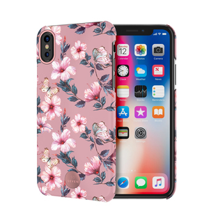 COQUE PREMIUM CRYSTAL SEOUL HIBISCUS ROSE: IPHONE X/XS