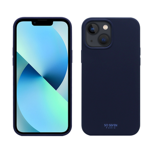 COQUE SMOOTHIE RECYCLE BLEU IPHONE 13