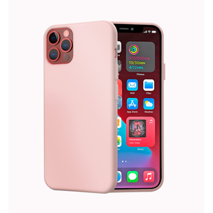 MAG CASE COQUE SILICONE IPHONE 12/12 PRO ROSE
