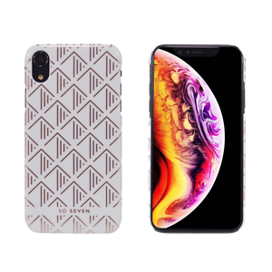 COQUE PARIS TRIANGLE BLANC/ROSEGOLD: APPLE IPHONE XR