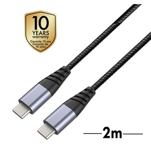 TIGER CABLE ULTRA RESISTANT TYPE C/TYPE C 2M GRIS