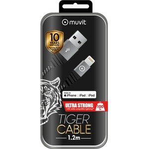 TIGER CABLE ULTRA RESISTANT LIGHTNING MFI 12M 24A GRIS