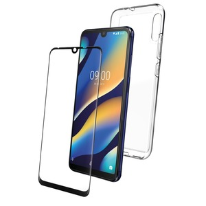 PACK COQUE TRANSPARENTE+ VERRE TREMPE: WIKO VIEW 3 LITE