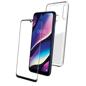 PACK COQUE TRANSPARENTE + VERRE TREMPE WIKO VIEW 3