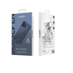 COQUE SMOOTHIE RECYCLE BLEU IPHONE 13 PRO MAX