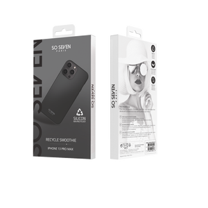 COQUE SMOOTHIE RECYCLE NOIR IPHONE 13 PRO MAX