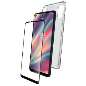 PACK COQUE FLEXIBLE + VERRE TREMPE: VIEW 5/VIEW 5 PLUS