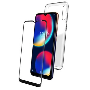 PACK COQUE FLEXIBLE + VERRE TREMPE: WIKO VIEW 4