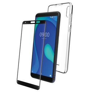 PACK COQUE FLEXIBLE + VERRE TREMPE: WIKO Y80