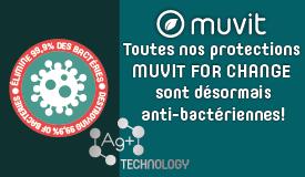 Toutes nos protections Muvit For change sont désormais anti-bactériennes !