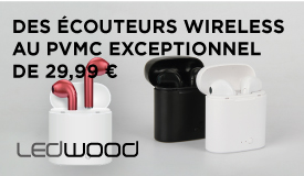 Ecouteurs bluetooth intra sans fil Ledwood