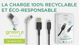 GreenE, la charge 100% recyclable et éco-responsable